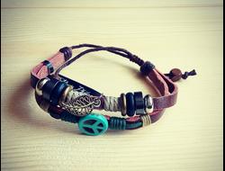 Мужской кожаный браслет панк-рок mp-82