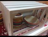 Подарочный реечный ящик окрашенный