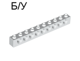 ! Б/У - Technic, Brick 1 x 10 with Holes, White (2730 / 273001) - Б/У