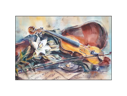 Скрипка и лилия