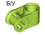 ! Б/У - Technic, Axle and Pin Connector Perpendicular, Lime (6536 / 4173601 / 4261453 / 6149996) - Б/У