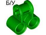 ! Б/У - Technic, Axle and Pin Connector Perpendicular Double, Green (32291) - Б/У