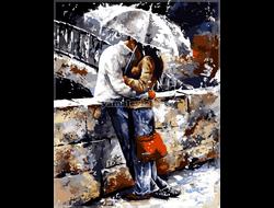 Картина (раскраска) по номерам на холсте - Двое под зонтом, худ. Эмерико Тот GX 7538