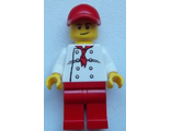 Chef - White Torso with 8 Buttons, Red Legs and Red Cap with Hole ;City Square Hot Dog Vendor;, n/a (chef023)