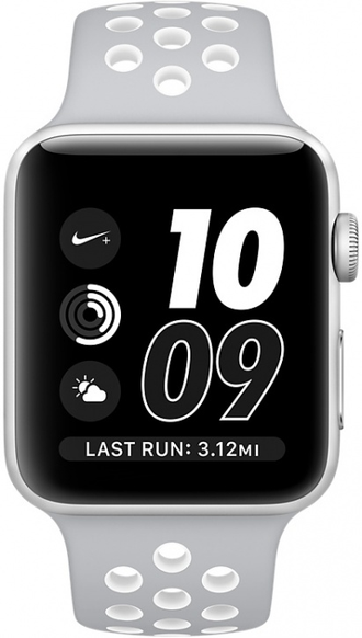 Apple Watch Series 3, 38mm Silver + Nike Gray