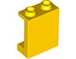 Panel 1 x 2 x 2 with Side Supports - Hollow Studs, Yellow (87552 / 4593677)