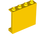 Panel 1 x 4 x 3 with Side Supports - Hollow Studs, Yellow (60581 / 6120859)