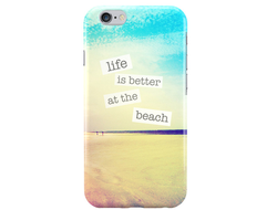 Чехол Life is better at the beach для iPhone 6