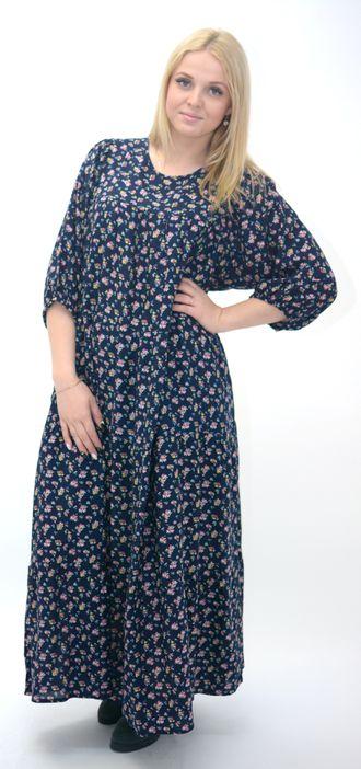 Ярусное платье из штапеля своими руками 36
