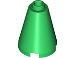 Cone 2 x 2 x 2 - Completely Open Stud, Green (3942c / 4240359 / 6022162 / 6189162)