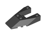 Wedge 6 x 4 Cutout with Stud Notches, Black (6153b / 4528717 / 6048746)