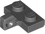 Hinge Plate 1 x 2 Locking with 1 Finger on Side, with Bottom Groove, Dark Bluish Gray (44567b / 4210892)