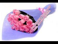 25 бледно-розовых роз букет Каприз