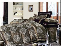 Артикул H023. Элитное постельное белье на 100% хлопковой основе с использованием шелковой нити,декорировано вышивкой