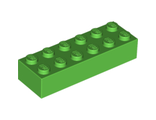 Brick 2 x 6, Bright Green (2456 / 6102903)