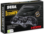 Sega Super Drive 2 Classic HDMI (220-in-1) Black.