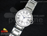 Ballon Bleu 36mm White Dial Steel Braclete