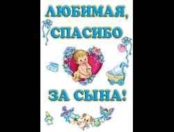 """Набор наклеек """"Любимая, спасибо за сына"""" (12 элементов) арт.1790"""