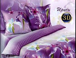 Ирисы.  Комплект постельного белья из набивной бязи традиции текстиля, цельнокройное, хлопок 100%