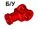 ! Б/У - Technic, Axle Connector with Axle Hole, Red (32039 / 4118897) - Б/У