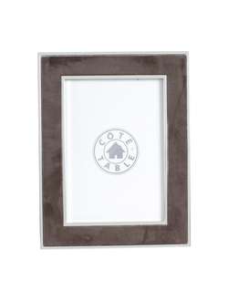 Фоторамка PHOTO FRAME SUEDE BROWN 17.5X22.5 STEEL+POLYESTERарт.31845