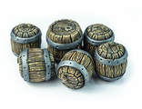 Oak barrels (painted)
