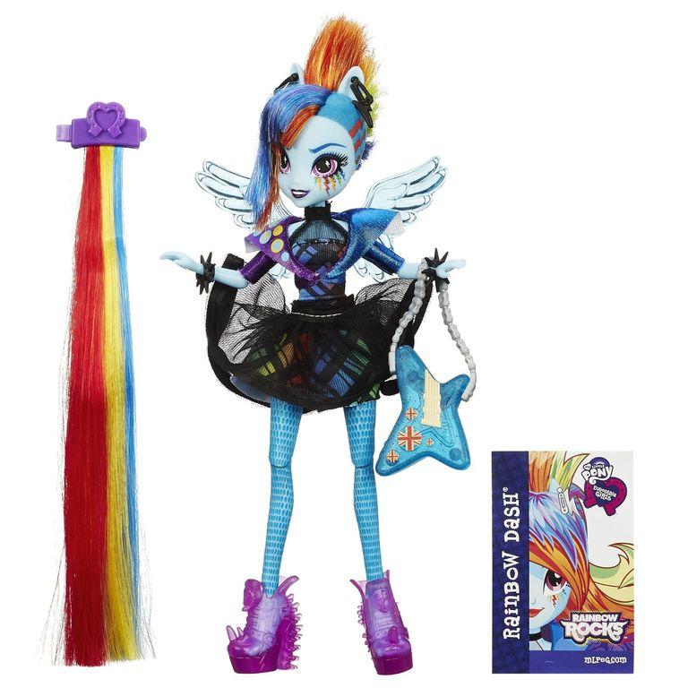 Фото кукол девушки эквестрии радужный рок