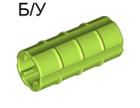 ! Б/У - Technic, Axle Connector 2L Ridged with x Hole x Orientation, Lime (6538b / 4154499 / 4265703) - Б/У