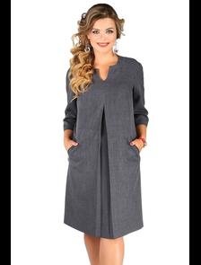 Платье с рукавом реглан Новита-484-серый (50-60)