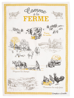 КУХОННОЕ ПОЛОТЕНЦЕ 200456 KITCHEN TOWEL W/JAR FERME TOR-COLLEC BLACK 50X70CM