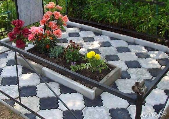 Укладка плитки на кладбище своими руками 99