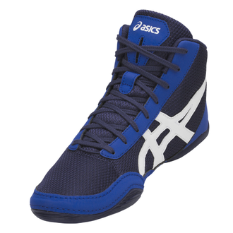 борцовки Asics Matflex 5GS Детские Indigo Blue/White C545N-400 wretsling shoes фото сбоку
