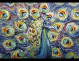 """Круглова Ирина """"Павлин"""", холст / масло,  50 х 70 см.,  2016 г."""