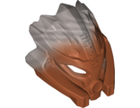 Bionicle Mask of Stone Unity with Marbled Flat Silver Pattern, Dark Orange (24157pb01 / 6135034)