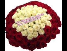 Букет из 101 розы Нежное Сердце