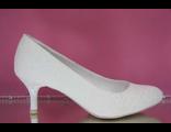 Свадебные вечерние туфли кожа классические айвори маленький каблук купить магазин интернет салон фот