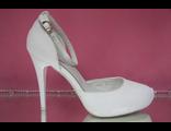 Свадебные белые открытые туфли с закрытым носиком и пяткой скрытая платформа высокий каблук купить