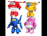 Комплект игрушкек трансформеров Хоги, Донни, Джером, Ари Super Wings (Спасатели СуперКрылья)
