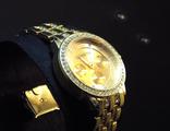 Классические часы Geneva золотистого цвета (№404)
