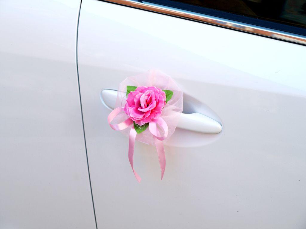 Украшение на ручку машины на свадьбу своими руками 37