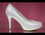 Свадебные туфли перламутр на платформе средний каблук удобная колодка № 109-К990=15+