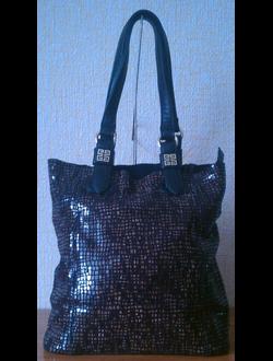 Givenchy кожаная сумка, черная
