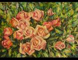 """Круглова Светлана. """"Розовое царство"""",  холст / масло,  50 х 70 см.,  2016 г."""