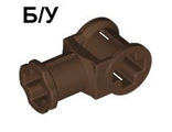 ! Б/У - Technic, Axle Connector with Axle Hole, Brown (32039 / 4141419) - Б/У
