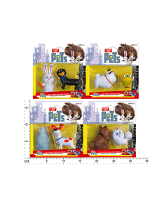"Герои""THE SECRET LIFE OF PETS"" HT16472  2 героя,4 вида,на планш.16*17см"