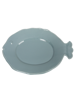 Салатник PLATE FISH LM  POISSON STEEL BLUE DOLOMIT
