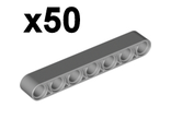 Technic, Liftarm 1 x 7 Thick,x50, Light Bluish Gray (32524 / 4495930)