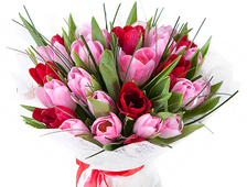 Цветы весны (25 тюльпанов)