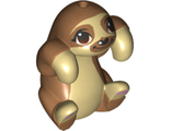 Sloth, Friends with Medium Nougat Fur and Muzzle, Dark Brown Eyes and Bright Pink Paw Pads Pattern, Tan (bb1149pb01 / 6301550)