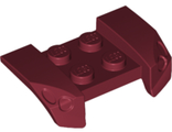 Vehicle, Mudguard 2 x 4 with Headlights Overhang, Dark Red (44674 / 4278434 / 4660447 / 6212204)